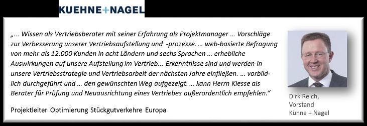 Referenz Dirk Reich Kühne+Nagel