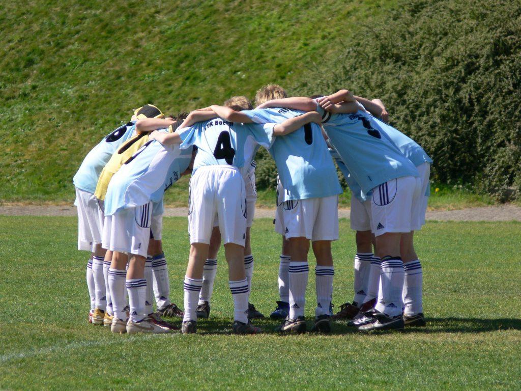 Fussball Winning Team
